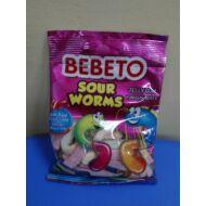 Bebeto Sour Worms gumicukor 80g