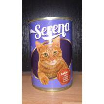 Serena Teljes értékű állateledel felnőtt macskák számára Hallal -415g