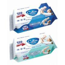 Cotton Baby/Aquella  nedves törlőkendő 120 db/csomag