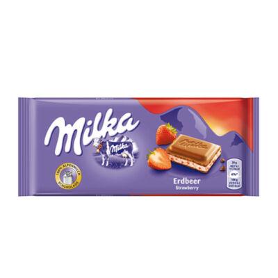 Milka Alpesi tejcsokoládé Epres 100g