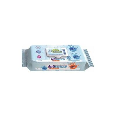 Aquella 80 db-os Antibakteriális törlőkendő, visszazárható csomagolásban